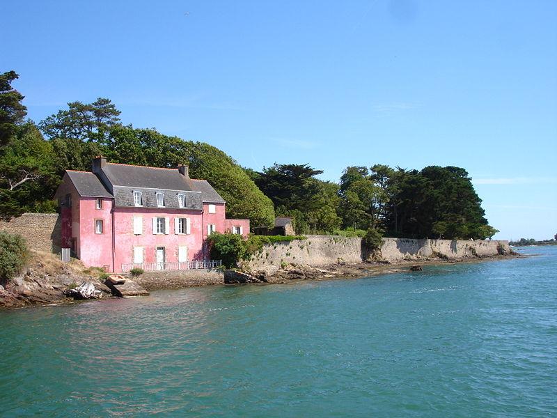 maison rose du golfe du morbihan