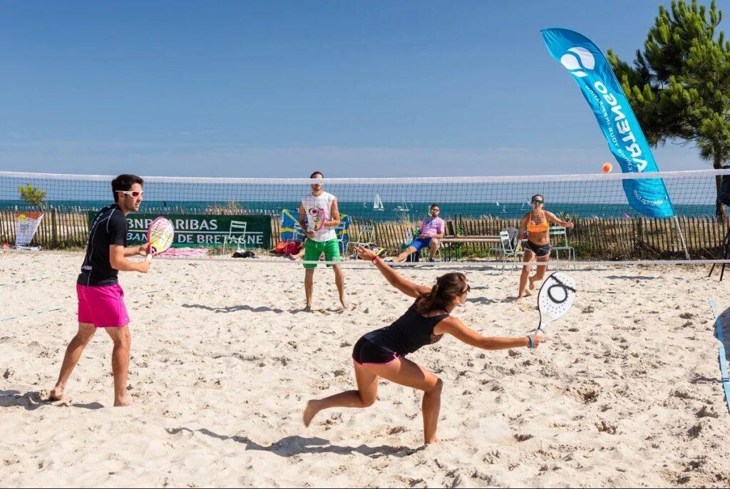 sport sur la grande plage de carnac